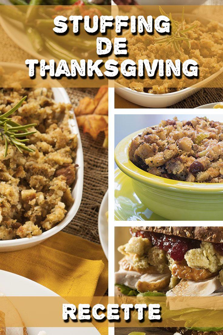 Véritable recette du stuffing pour farcir la dinde de Thanksgiving !  Très simple à faire, la recette sur : http://www.passionamerique.com/recette-stuffing-dinde-thanksgiving/