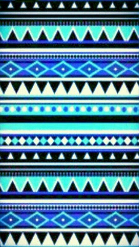 blue & black shades tribal pattern wallpaper ♥♥