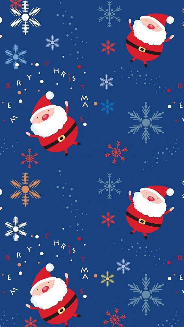 Santa claus pattern iPhone 5s Wallpaper Download   iPhone Wallpapers, iPad wallpapers One-stop Download