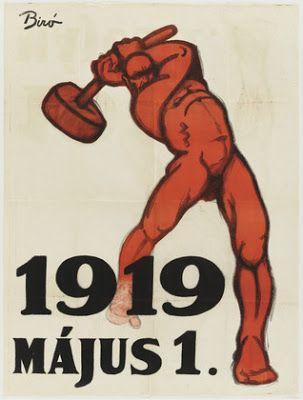 Hungarian Soviet Republic propaganda poster from 1919 : MIHÁLY BIRÓ