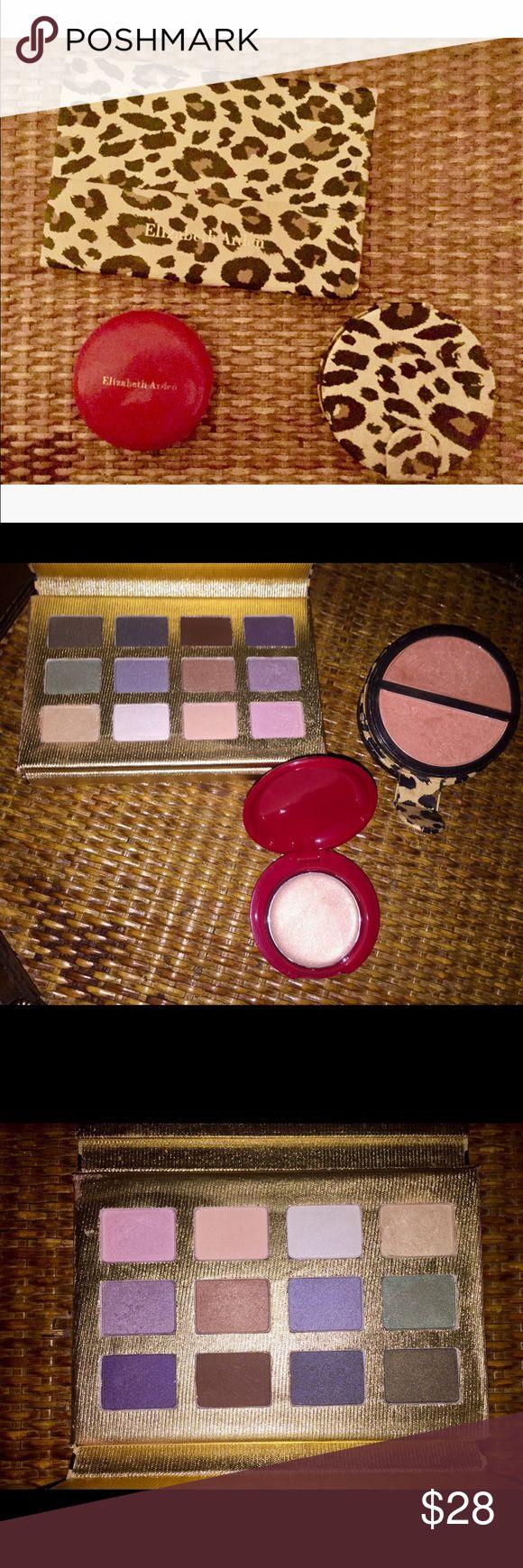 💋🔥BRAND NEW & NEVER USED3 Pc.Elizabeth Arden Set Includes Eyeshadow Palette, Blush Palette & Shimmer Cream Elizabeth Arden Makeup