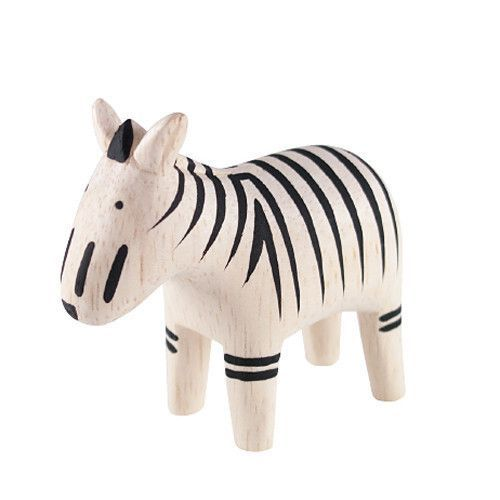 Träfigur Zebra via ecolivia. Click on the image to see more!