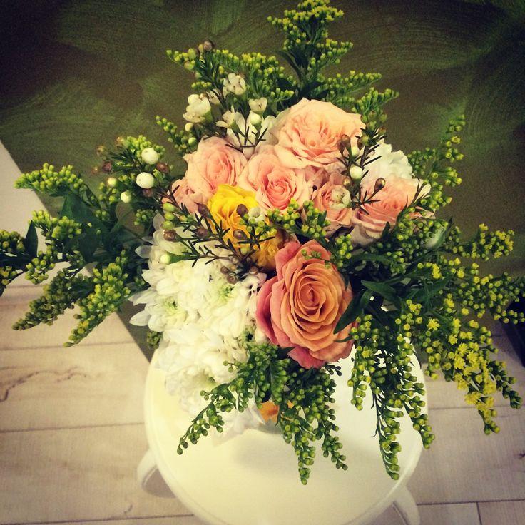 #millefleur Baptise centerpiece flower arrangements