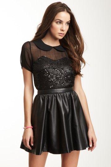 Gracia Short Sleeve Sequin Top on HauteLook