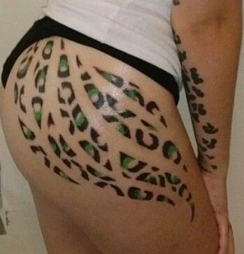 Cheetah print on butt thigh tattoo dif color wanted for Tattoos on your butt