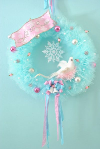 vintage tulle wreath
