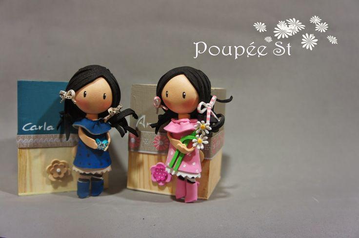 Poupée ST: Cajitas de Gorjuss. Cual prefieres la rosa o la az...