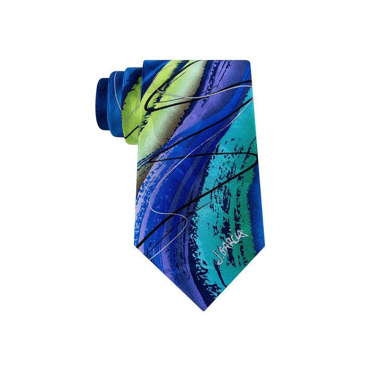Big & Tall Jerry Garcia Extra-Long Tie & Collector's Pin Set, Blue