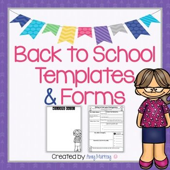 Back to School Forms & Teacher Introduction Letter Template - perfect for back to school!  Find it here: https://www.teacherspayteachers.com/Product/Back-to-School-Forms-Teacher-Introduction-Letter-Template-2690778