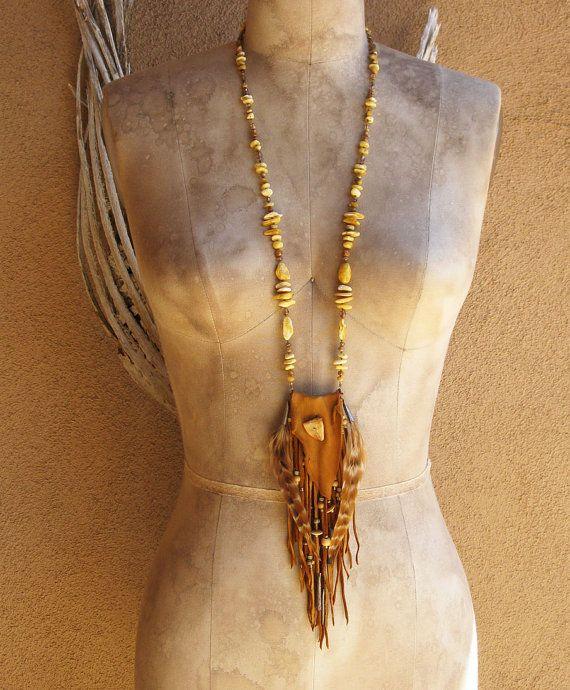 Deer Hide Leather Triangular Medicine Pouch by deserttalismans, $215.00