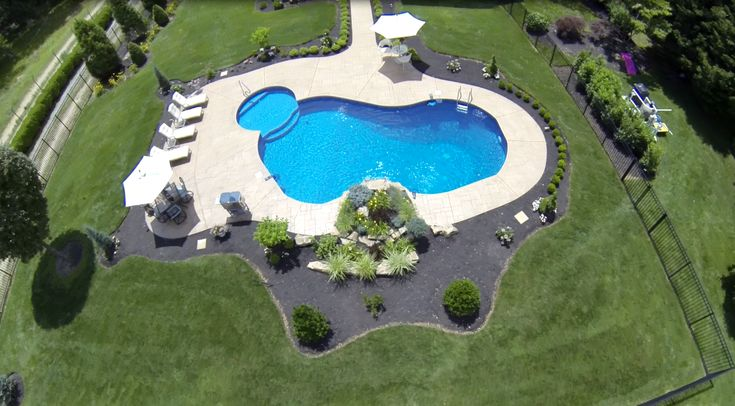 Image Result For Ground Blue Lagoon Pool Liner Concrete Patio Pools Backyard