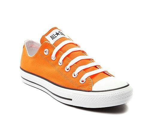 Orange converse shoes