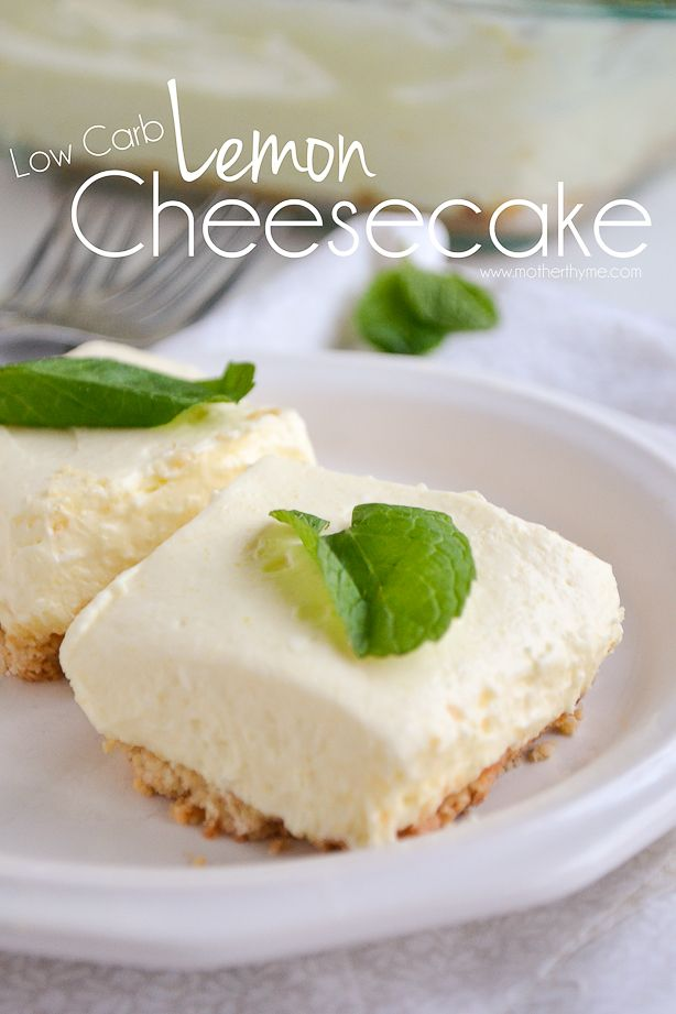 This is the low carb cheesecake I make! You can use any flavor jello. - An easy and delicious no bake recipe for Low Carb Lemon Cheesecake made with a simple almond crust.