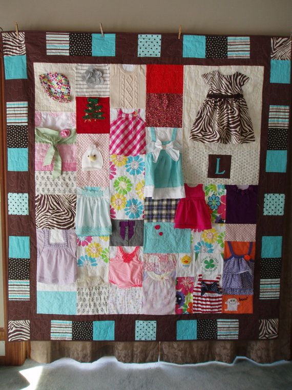 Custom Orders For Baby Clothes Quilt Large Throw Small