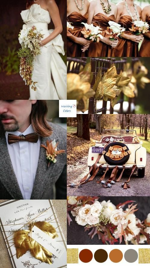 fall wedding colors palette | photo credits cascading bouquet via stylemepretty photo by nk ...