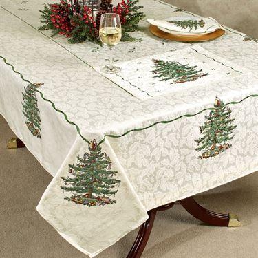 Spode Christmas Tree Table Linens