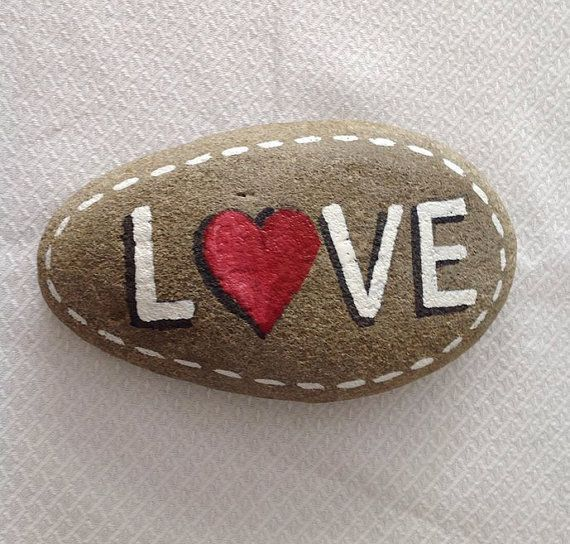 Hand painted rock with quote / personalized stone / funny gift / Art