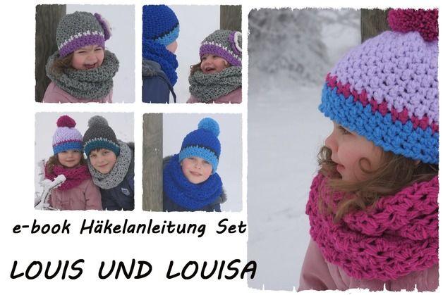 DIY Set LOUIS UND LOUISA e-book/Häkelanleitung made by Leomaxi  crochet via DaWanda.com