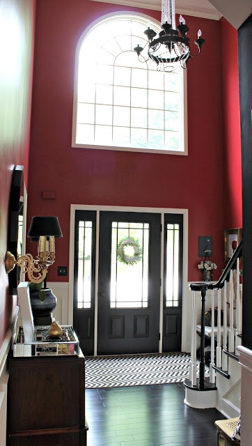 Painting the front door black! our fifth house: HOUSE TOUR
