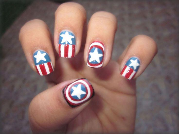 1000 images about superheros nails on pinterest nail. Black Bedroom Furniture Sets. Home Design Ideas