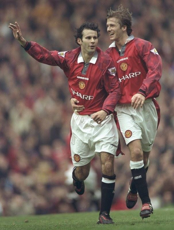 Ryan Giggs 11, gales. David Beckham 7, ingles - Manchester United