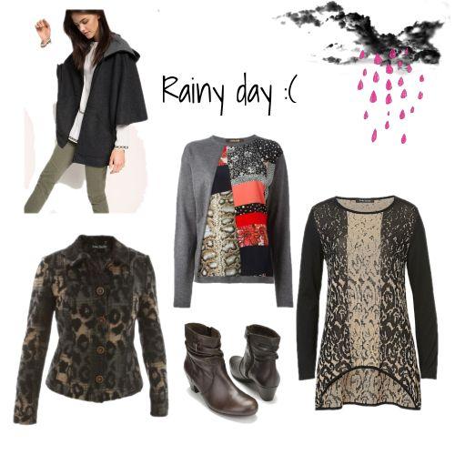 Wat draag je op een regenachtige dag.?