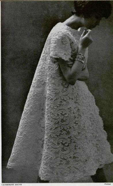 1958 Catherine Sauve evening coat