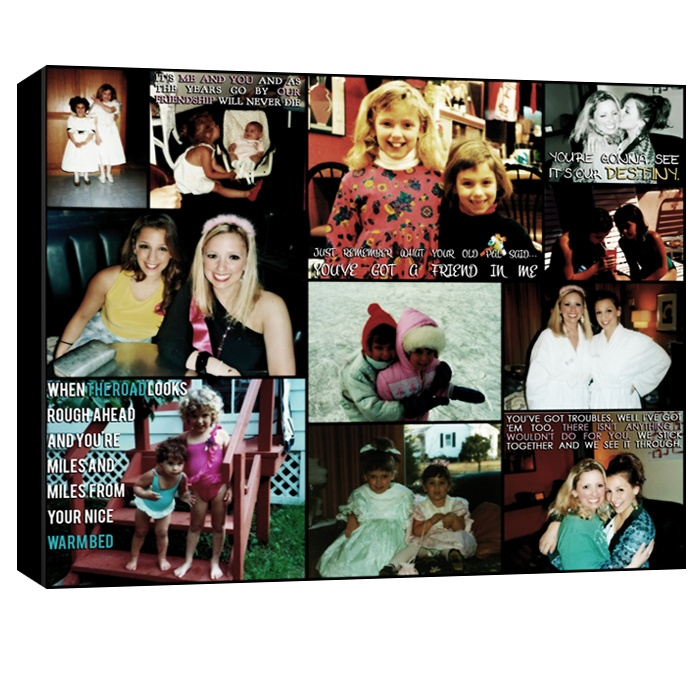 best friend collage canvas photos - great gift for maid honor