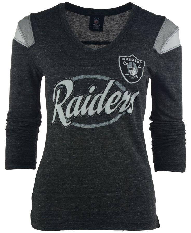 Ocean Women's Long-Sleeve Oakland Raiders Shoulder Stripe T-Shirt - Sports  Fan Shop By Lids - Men - Macy's