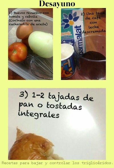 Recetas para bajar y controlar los triglicéridos: Los componentes de un buen desayuno.
