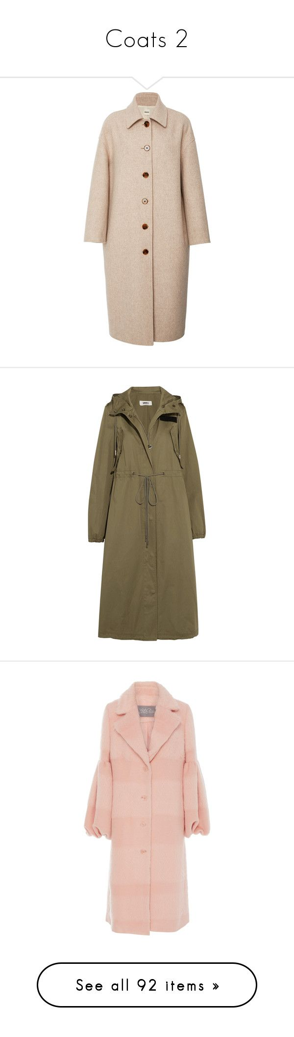 """""""Coats 2"""" by yyvonne881038 ❤ liked on Polyvore featuring outerwear, coats, neutral, pink cocoon coat, pink coat, cocoon coats, jackets, army green, zip trench coat and brown trench coat"""