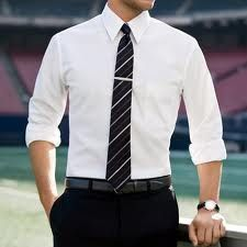 smart work outfit with tie