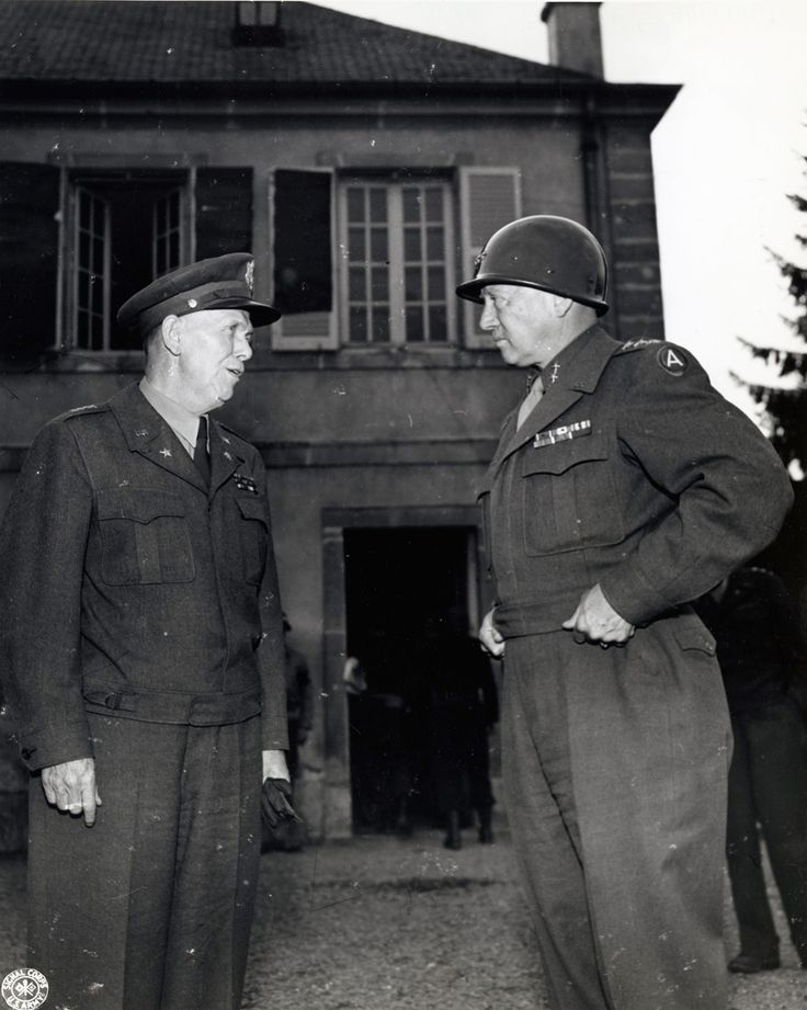 Generals George C. Marshall and George S. Patton, Jr., apparently Oct. 1944.