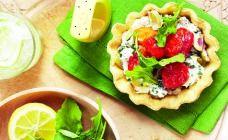 Roasted Baby Tomato and Olive Ricotta Tarts Recipe - Vegetarian