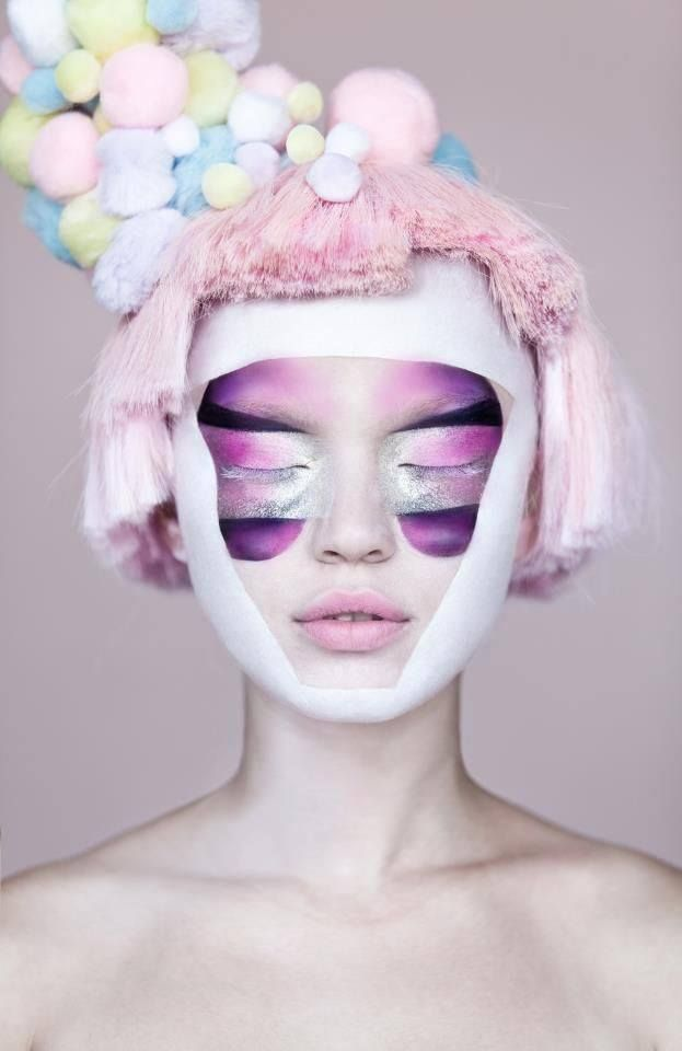 makeup garde avant beauty hair pink looks purple creative pastel inspiration surreal tutorials face eye techniques avante candy exquisite goran