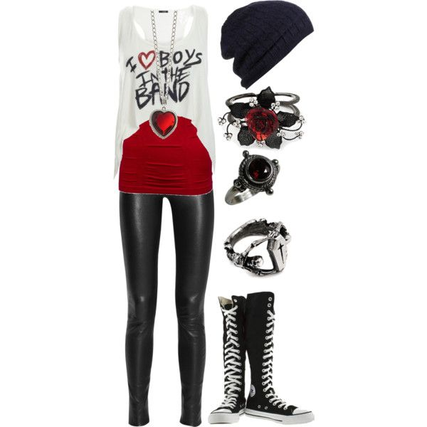 """OooO HOT!!!"" by bvb3666 on Polyvore...definitley would have different shoes, some industrial combat boots maybe"