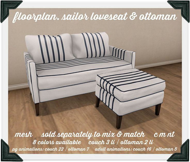 floorplan. sailor loveseat & ottoman | Flickr - Photo Sharing!