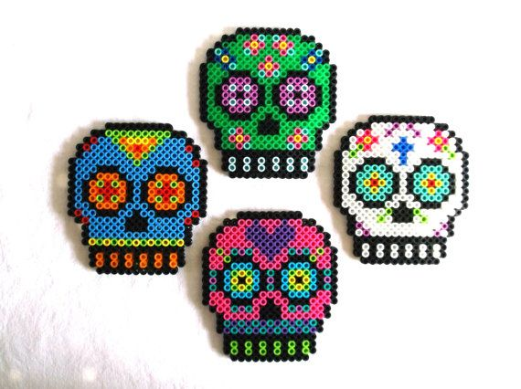Azúcar cráneo imanes de día de muertos decoración por CherryPicks