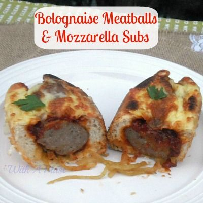 Bolognaise Meatballs & Mozzarella Subs ~ quick and easy prepping!  #subs #bolognaise # WithABlast.com