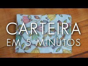 Dica de Sexta: Como Fazer uma Carteira em 5 Minutos (Tutorial Patchwork) - YouTube