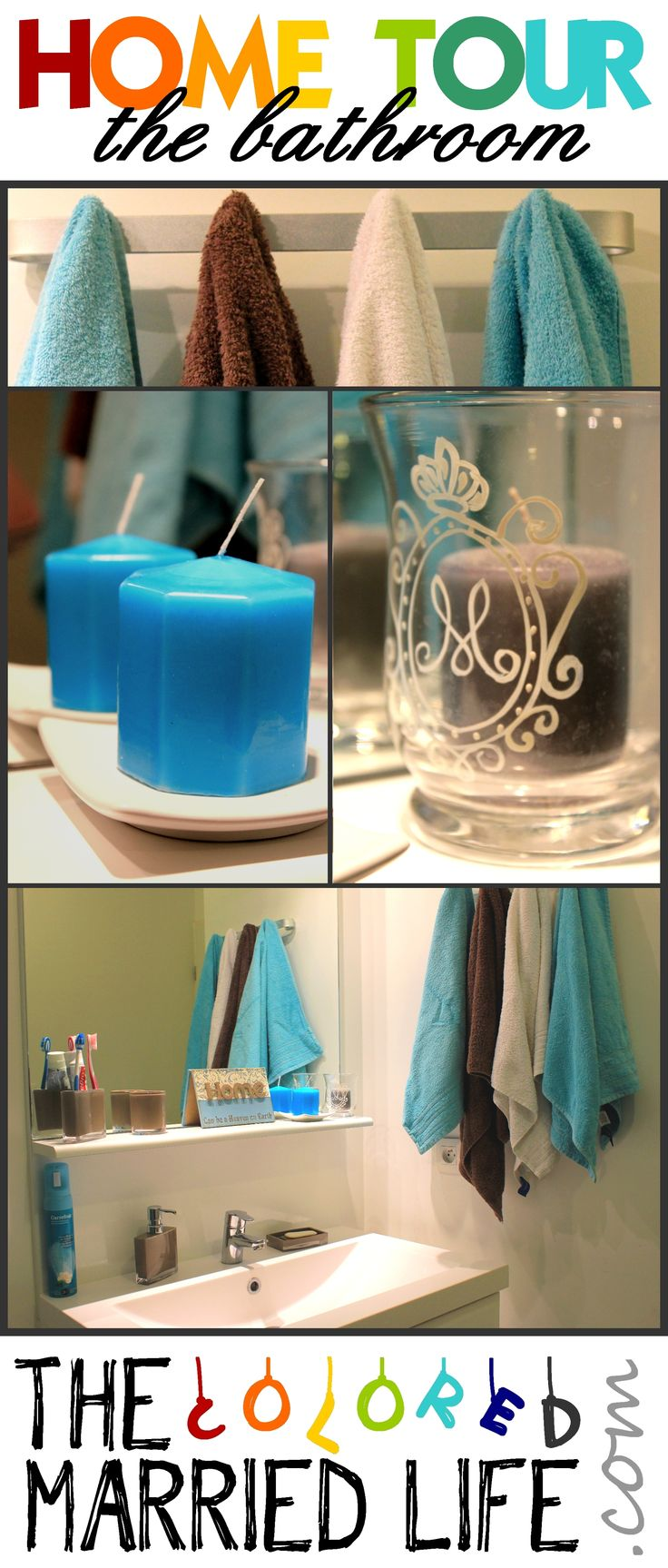 Brown And Blue Bathroom Home Decorating Ideas Pinterest