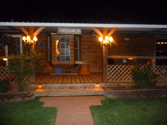 Double Wide Log Mobile Home | Rustic log cabin in Lubbock Texas - Bedroom Designs - Decorating Ideas ...