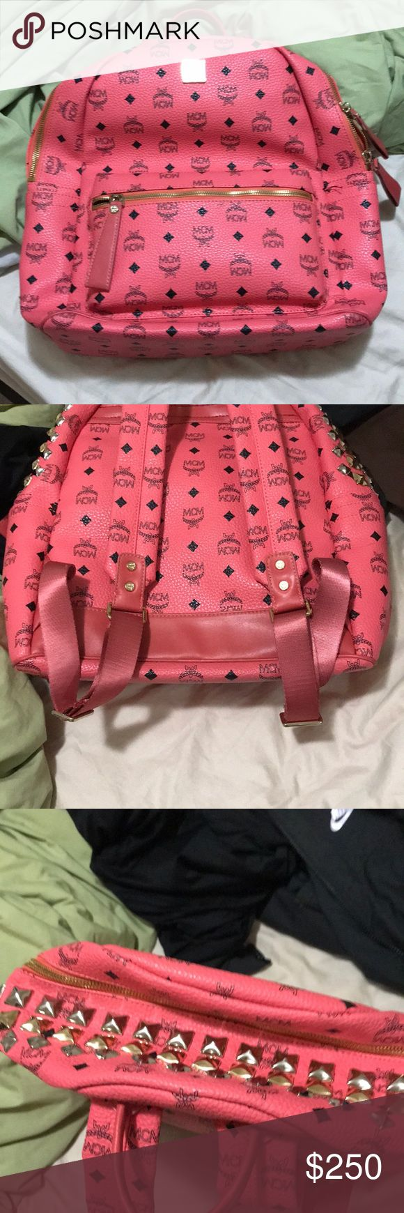 mcm backpack pink in good condition MCM Bags Backpacks