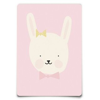 Eef Lillemor Miss Bunny Postcard The adorable new Eef Lillemor Miss Bunny Postcard is a unique eye catching addition to a nursery or childs room.  Makes a great gift framed and can also be teamed up with the rest of cute illustrated animal postcards to create a feature wall. $3.95 #easter #bunny #gift