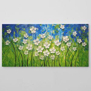 유화 꽃그림 캔버스 액자