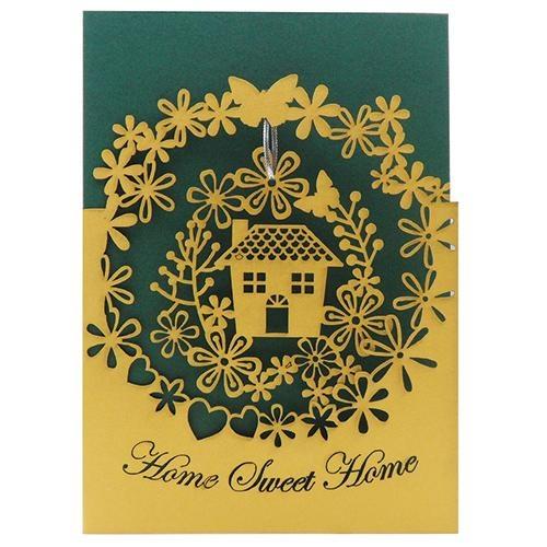 home sweet home laser-cut card