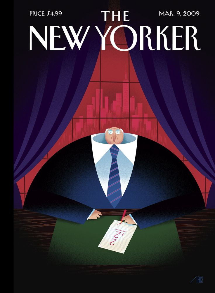 """The New Yorker - Monday, March 9, 2009 - Issue # 4300 - Vol. 85 - N° 4 - Cover """"Downsized"""" by Bob Staake"""