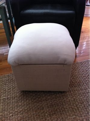 The Quaint Cottage: Simple Wooden Storage Footstool