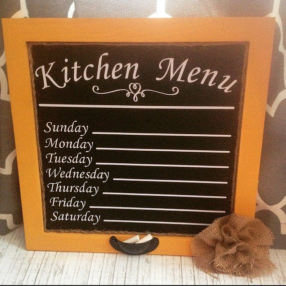 Hey, I found this really awesome Etsy listing at https://www.etsy.com/listing/215310346/weekly-country-kitchen-menu-chalk-board
