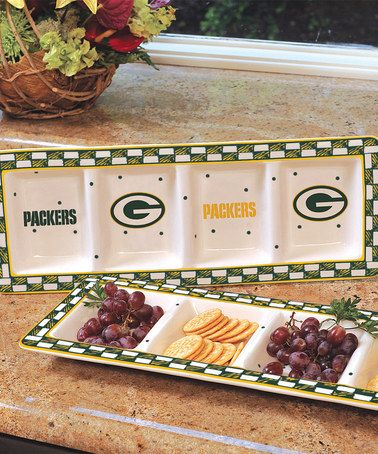 Love this Green Bay Packers Game Day Relish Tray by The Memory Company on #zulily! #zulilyfinds